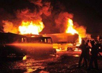 16 NATO supply trucks set ablaze by Talibans in Pakistan