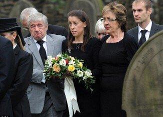 Gemma Redmond, the widow of honeymoon shark attack victim Ian Redmond, gave a heartfelt tribute at his funeral
