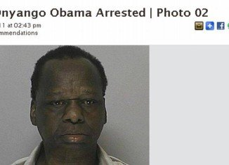 Onyango Obama has been stopped by police on suspicion of driving under the influence of alcohol after narrowly escaping a crash in Massachusetts