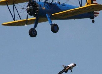 Wing walker Todd Green fell 200 feet to death at the Selfridge Air National Guard Base Air Show in Harrison Charter Township, Michigan.