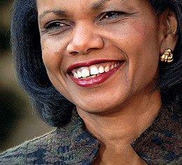 Muammar Gaddafi might be in love with Condoleezza Rice