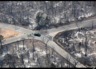 The major wildfire blackened most of Bastrop Texas (AP)
