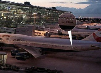 "British Airways found a rival Virgin Atlantic plane in the company's new TV advert, ""Aviators"""