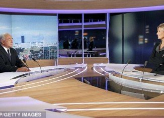 DSK was interviewed on French TV channel TF1 by veteran presenter Claire Chazal
