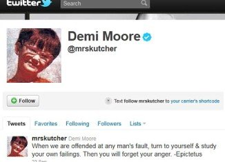 Demi Moore posted this message on Twitter the night before spending her first wedding anniversary apart from Ashton Kutcher