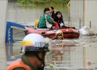 More than a million people were urged to evacuate their homes after typhoon Roke hit Japan
