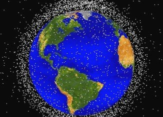 The falling satellite is one of the thousands of objects in Earth orbit being tracked by NASA