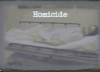 The shocking photo of Michael Jackson's dead body on a gurney on the opening day of the trial of Dr Conrad Murray