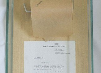 "Toilet roll The Beatles refused to use while recording Abbey Road, because they thought it was too ""hard and shiny"""