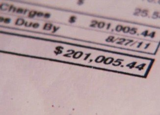 Celina Aarons had the shock of a lifetime when she opened her cell phone bill from T Mobile and find she owed $201,000