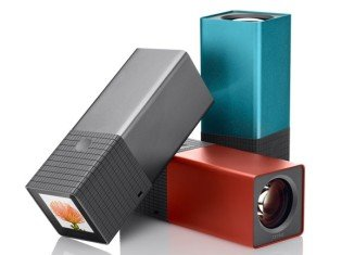 Lytro light field cameras come in two models 8GB (blue, graphite) and 16GB (red).