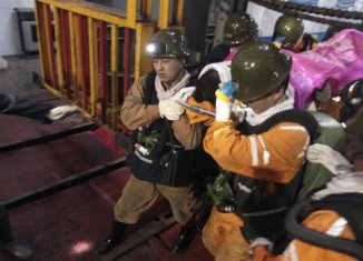 """50 miners have been trapped in a coal mine in the city of Sanmenxia in Henan province, China, after a """"rock burst"""