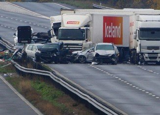 At least 7 people were killed and 51 injured in a horrific 27 vehicles crash on the M5 motorway near Taunton, Somerset, UK