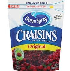 Ocean Spray has decided to recall thousands of pounds of Craisins - sweetened dried cranberries - after some lots were possibly contaminated with small, hair-like metal fragments