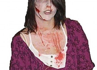 Taylor Van Diest, a teenager from Armstrong, British Columbia in Canada, who died after being beaten unconscious on Halloween was dressed as a zombie and covered in fake blood the night of her killing