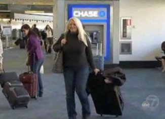 Terri Weissinger from California was trapped eight days at San Francisco International Airport because she couldn't pay the baggage fees