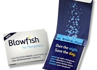 """Blowfish, the """"hangover cure"""" from Rally Labs comes in two dissoluble tablets and will available across U.S. store shelves"""