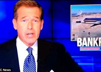 Brian Williams barely batted an eyelid when a siren went off in the channel's 30 Rock studio in New York moments into the Nightly News show