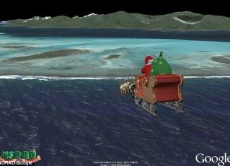 """Children and parents across the world can see just how far Santa and his reindeer are from their homes, thanks to a """"Santa Tracker"""" that follows his route around the globe"""