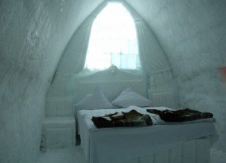 If you want to experience the adventure this winter, try Lake Balea Ice Hotel in Romania