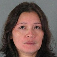 Jesua Tatad from California is accused of pouring boiling water over her ex-husband after she found out he was seeing another woman