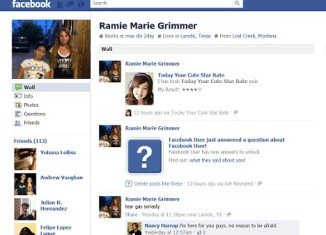 """Ramie Marie Grimmer wrote """"may die 2day"""" on her Facebook page during the seven-hour stand-off her mother had dragged her into with police"""