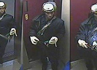 The attacker's image was caught on two surveillance cameras at the 203 Underhill Avenue apartment block