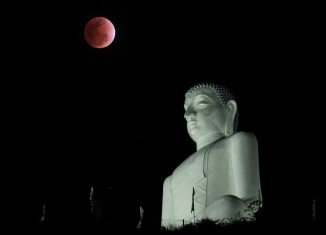 The color of the lunar eclipse gives us a report card on the health of the earth's atmosphere; when it is coppery red it means everything is normal