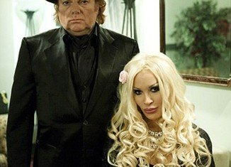 Van Morrison and his lover Gigi Lee in November 2009, one month before their child was born