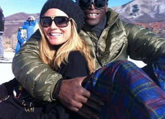 On December 26, Heidi Klum posted a picture on Twitter of the couple on the slopes in Aspen