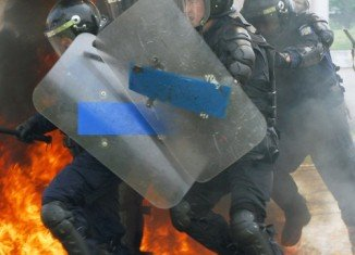 Protests continued today in capital Bucharest and other cities in Romania, the third consecutive day of street riots in the country