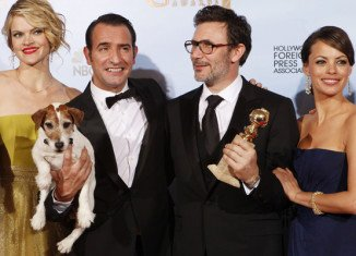 The Artist, the black and white silent film, took home three prizes from the Golden Globe awards in Los Angeles