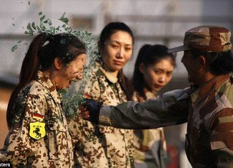 The female bodyguards training session, which took place in Beijing, involved 20 women, most of whom are university graduates