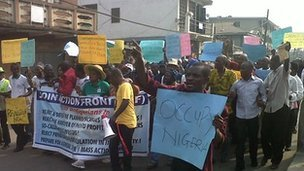 Trade unions in Nigeria have announced an indefinite strike and mass demonstrations unless the removal of a fuel subsidy is reversed