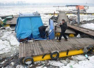 A rapid thaw caused a real chaos on the River Danube in the Serbian capital Belgrade