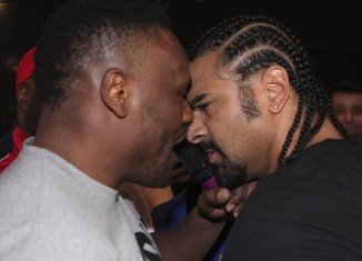 British boxer Dereck Chisora has been arrested by German police after a brawl with fellow boxer David Haye in Munich