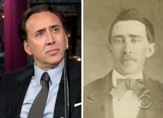 David Letterman produced a picture of Civil War-era Tennessee man from the 1860's, which an eBay seller had claimed was proof Nicolas Cage is a member of the undead