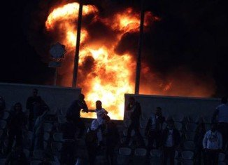 Egyptian authorities declared three days of national mourning after at least 74 people died in clashes between rival football fans in the city of Port Said