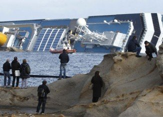 Italian officials announced removal operation of more than 2,300 tons of fuel from the grounded Costa Concordia cruise ship has started