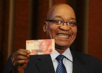 "President Jacob Zuma said Nelson Mandela banknotes are a ""humble gesture"" to express South Africa's ""deep gratitude"""