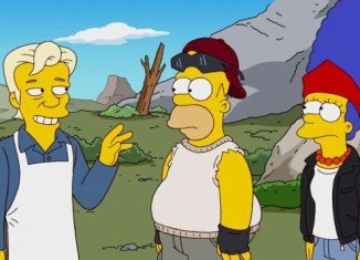 The 500th episode saw the Simpsons exiled to a community of outsiders where they met Wikileaks founder Julian Assange