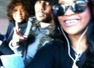 "Whitney Houston with her secret ""son"" Nick Gordon and daughter Bobbi Kristina Brown"