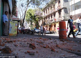 A large earthquake with a magnitude of 7.4 struck near Acapulco on Mexico's Pacific coast on Tuesday