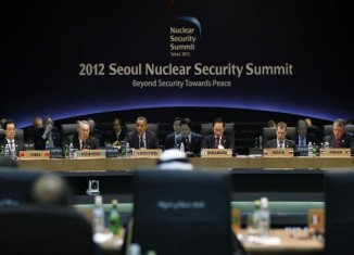 Almost 60 leaders from around the world attending 2012 Seoul Nuclear Security Summit have called for closer co-operation to tackle the threat of nuclear terrorism