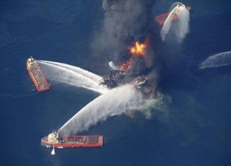 BP's Deepwater Horizon rig exploded in the Gulf of Mexico in April 2010, killing 11 workers and leaking four million barrels of oil