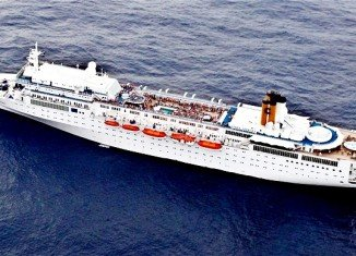 Costa Allegra, the stricken Italian cruise ship has docked in the Indian Ocean islands of the Seychelles