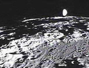 Image of Earth as seen from the moon surface taken aboard the Ebb spacecraft