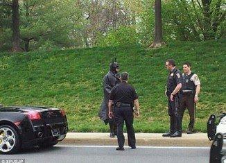 Lenny B. Robinson, the man dressed as Batman, was heading to a local children's hospital