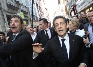 Nicolas Sarkozy has been booed by hundreds of angry protesters in Bayonne, as he campaigned in the Basque country ahead of April's presidential election
