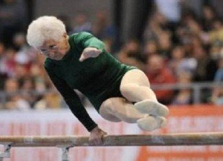 Octogenarian Johanna Quaas showed off her skills at the 2012 Cottbus World Cup in Germany
